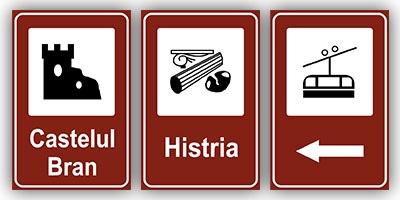 Indicatoare de informare turistica