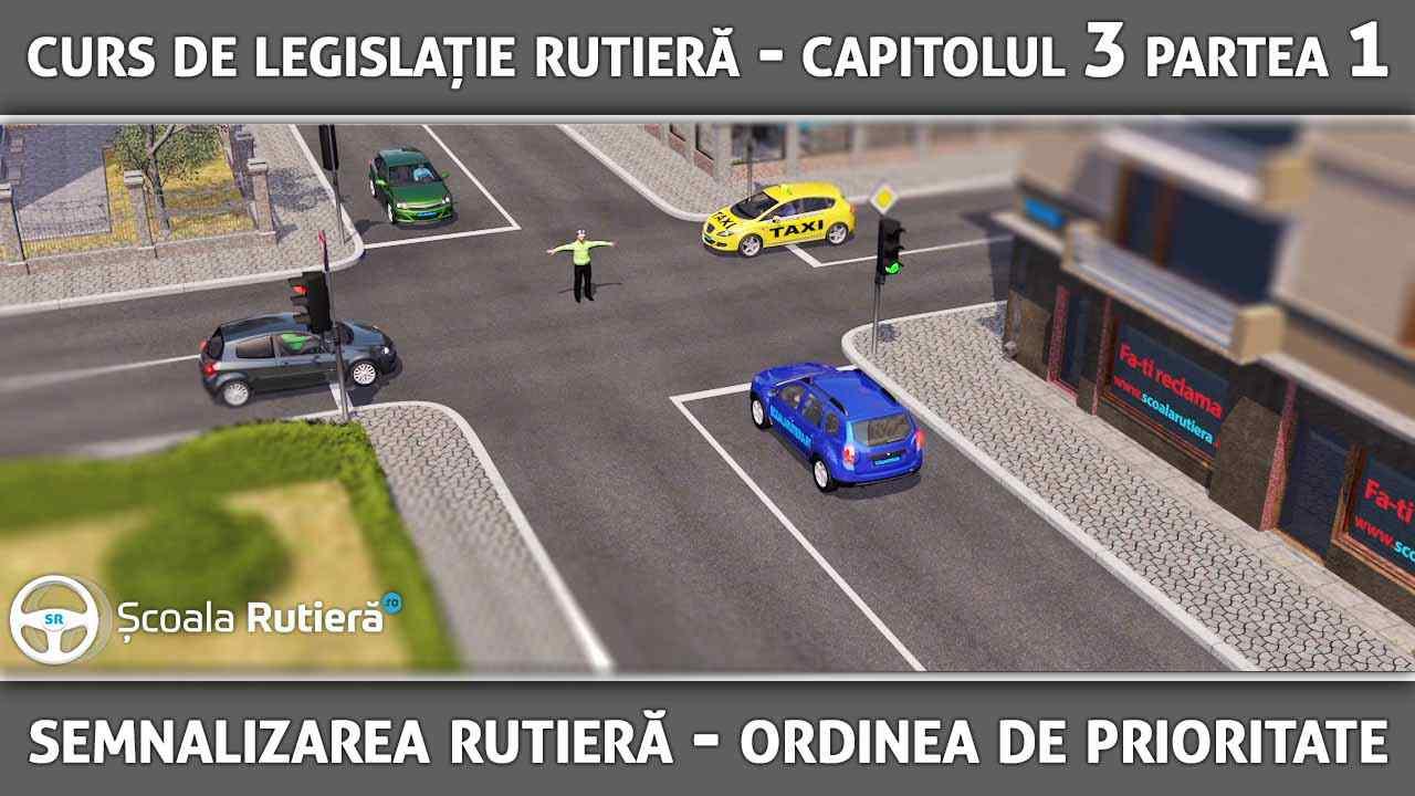 Capitolul 3 - partea 1 - Semnalizarea rutieră și ordinea de prioritate