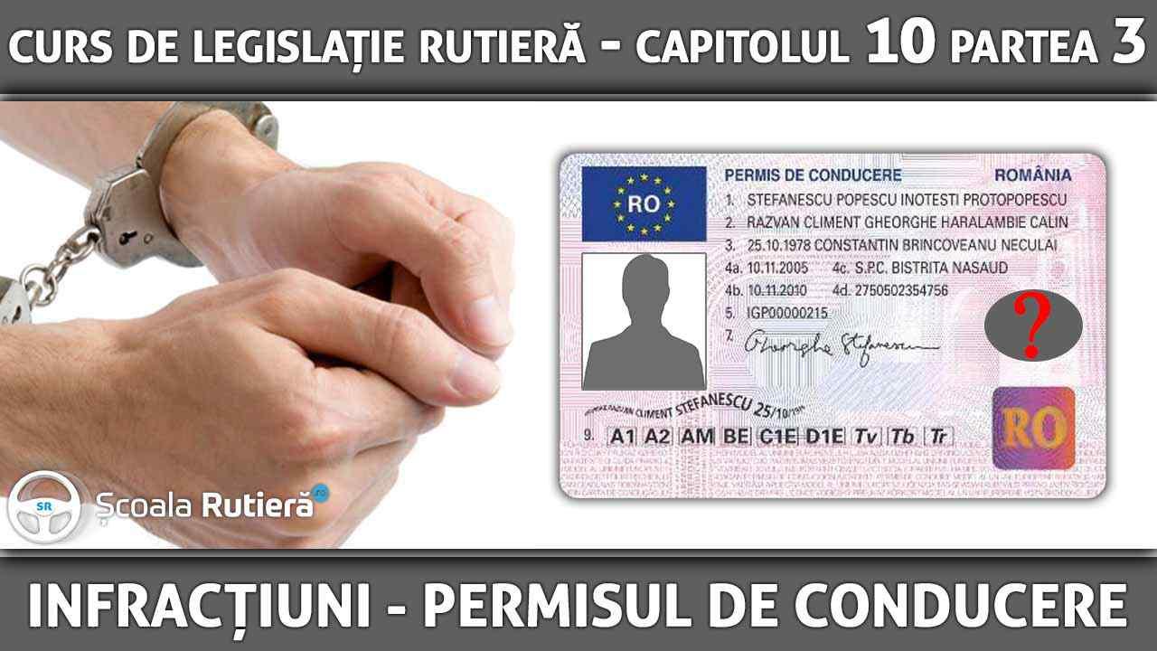 Capitolul 10 - partea 3 - Infracțiuni - Conducerea unui vehicul fără permis de conducere