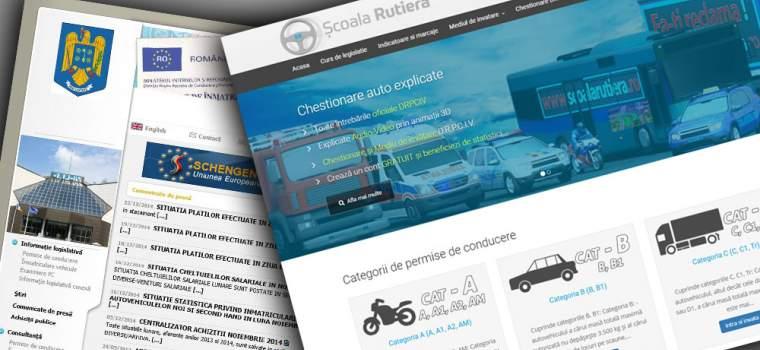 www.DRPCIV.ro și www.ȘcoalaRutieră.ro