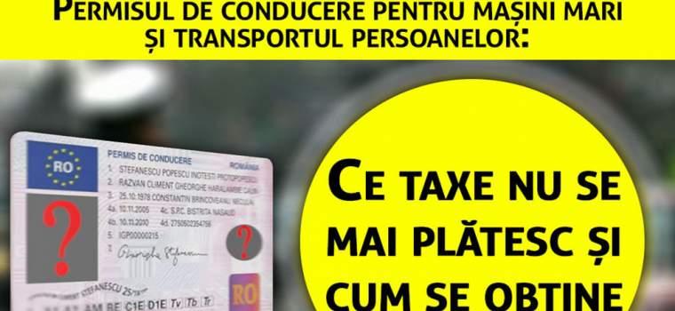 Permisul de conducere pentru mașini mari și transportul persoanelor