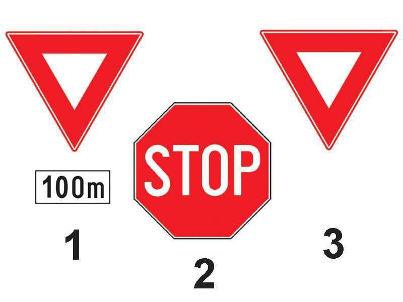 Ce indicator urmează să fie întâlnit în intersecţia aflată la 100 m de indicatorul 1?
