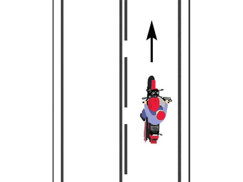 Aveţi posibilitatea de a trece pe sensul opus de mers, la întâlnirea unui astfel de marcaj rutier?