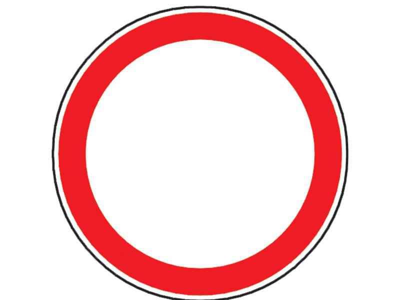 Au voie motocicletele să pătrundă pe sectorul de drum unde este instalat acest indicator?