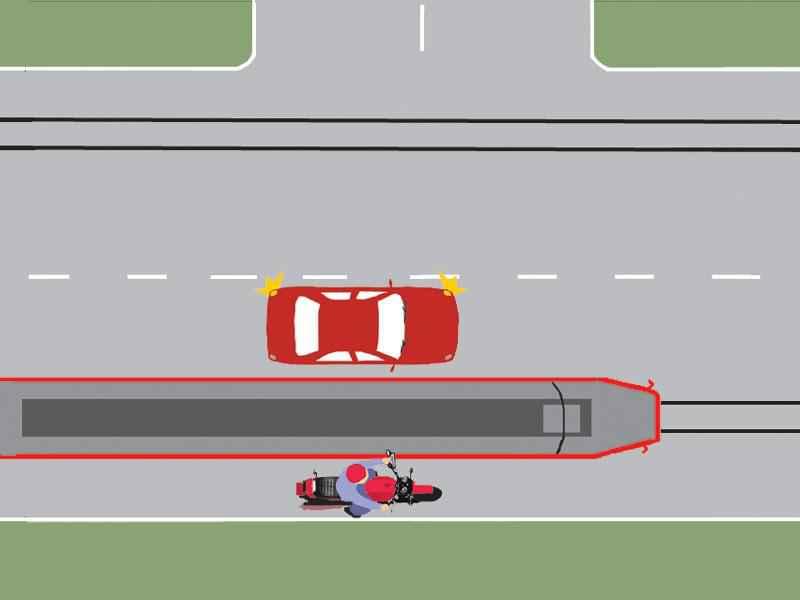 Care dintre conducătorii autovehiculelor execută corect depăşirea tramvaiului aflat în mers?