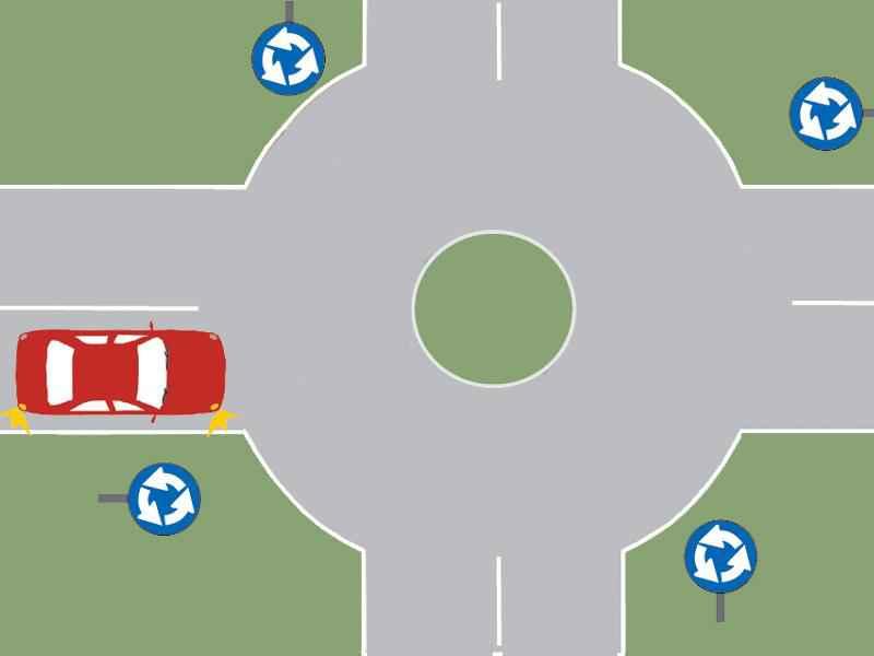 În această situaţie, intenţionaţi să viraţi pe prima stradă la dreapta. Ce obligaţii aveţi?