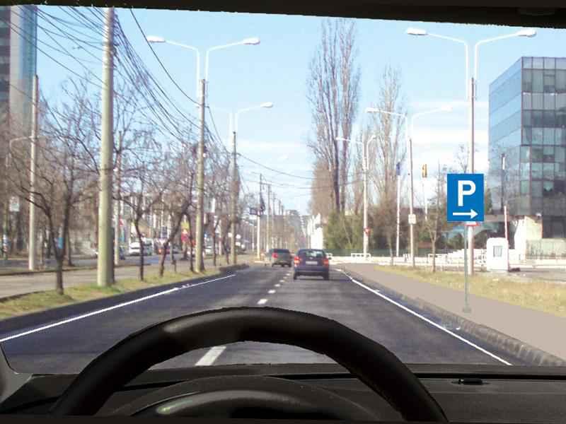 Unde veți parca vehiculul la întâlnirea acestui indicator?