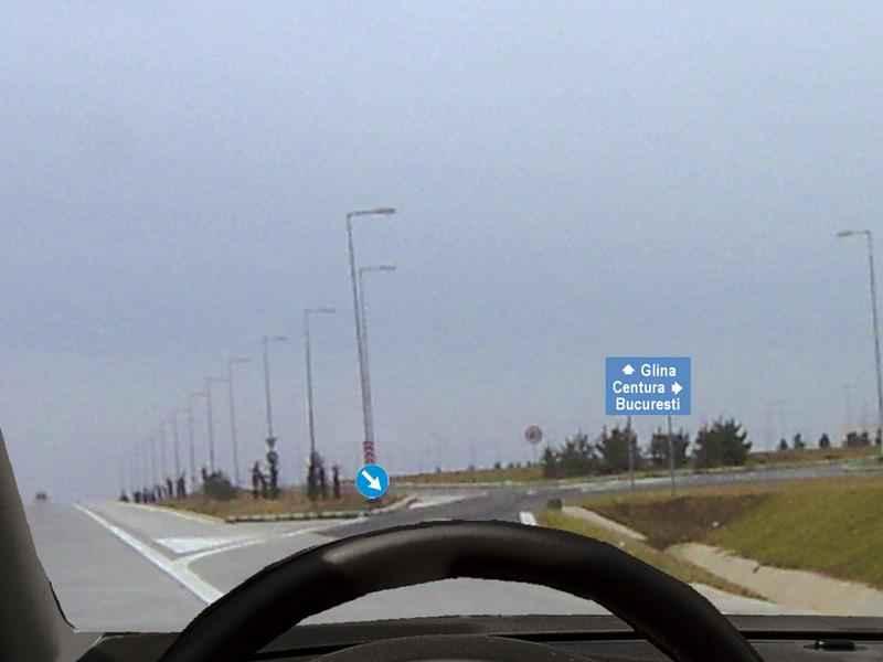 Cum vă comportaţi dacă intenţionaţi să părăsiţi autostrada în acest loc?