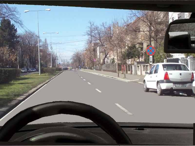 Autoturismul alb din dreapta dvs. a oprit regulamentar?