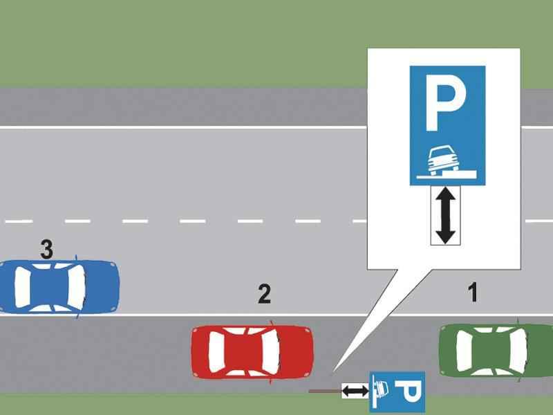 Care dintre cele trei autovehicule a parcat regulamentar?