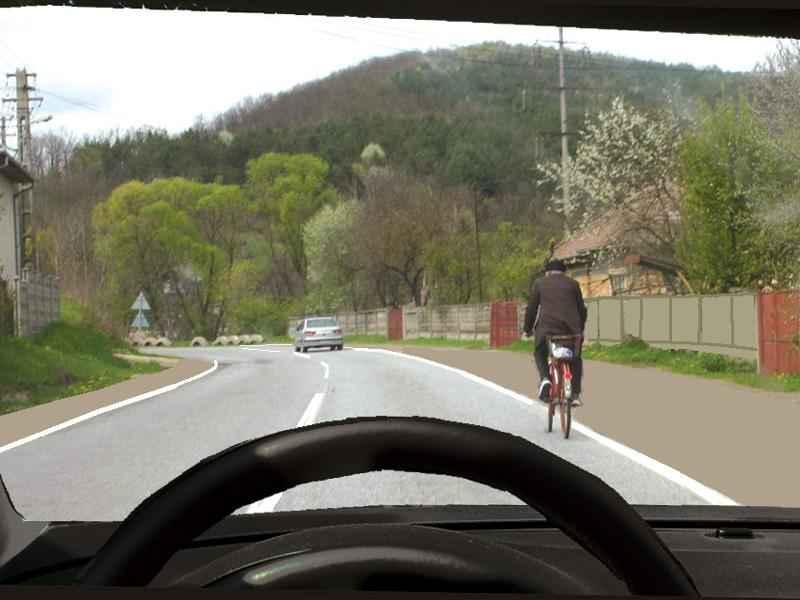 Vă este permis să claxonaţi un biciclist înainte de a-l depăşi?