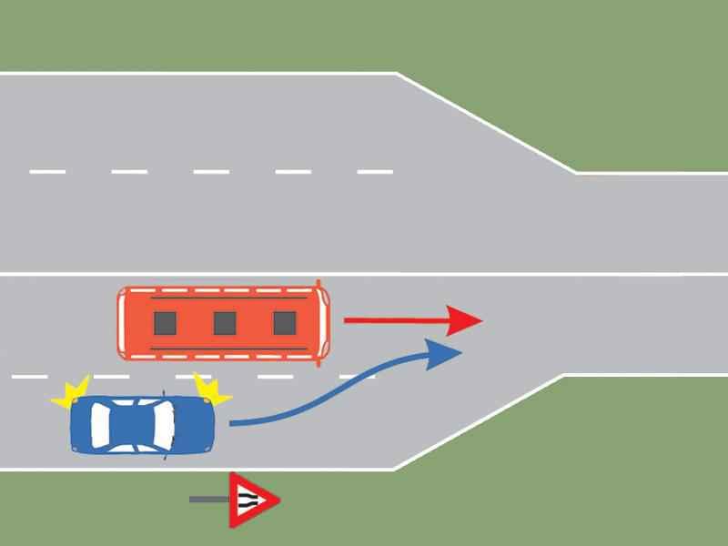 Cine are prioritate pe sectorul de drum îngustat?