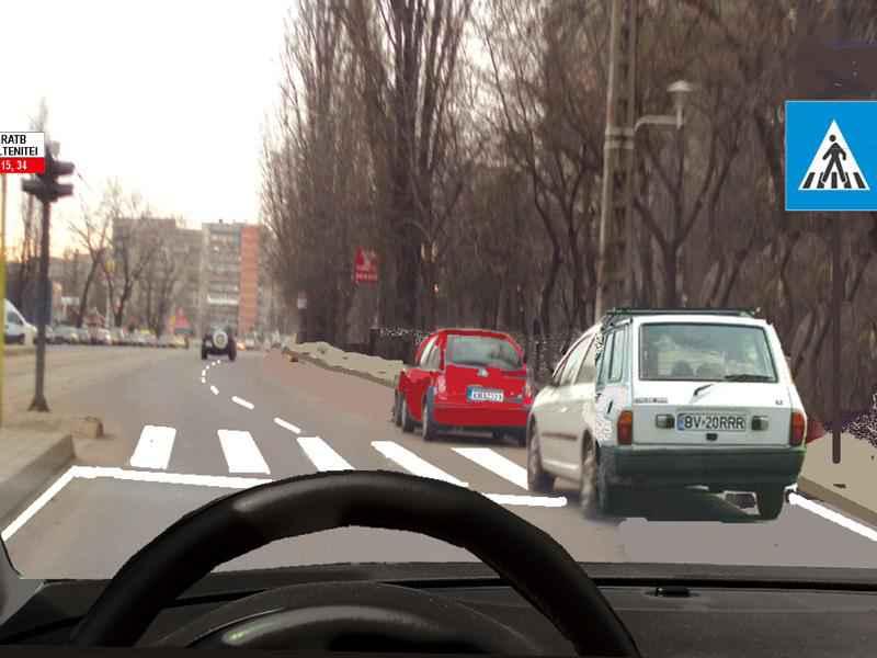 Care dintre autoturisme staţionează greşit?