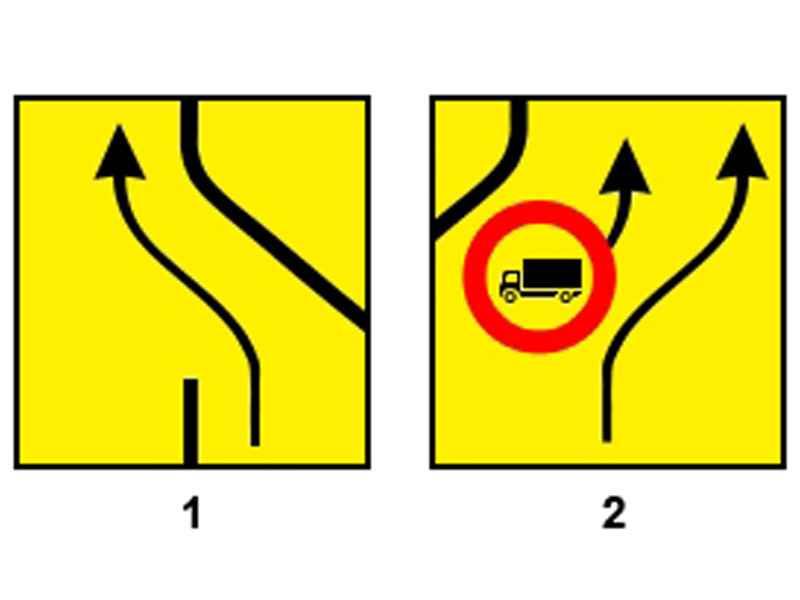 Care dintre indicatoarele alăturate te obligă să execuţi virajul la stânga?
