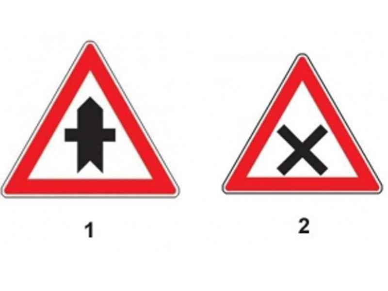 Care dintre indicatoare te avertizează că urmează să intersectezi un drum fără prioritate?