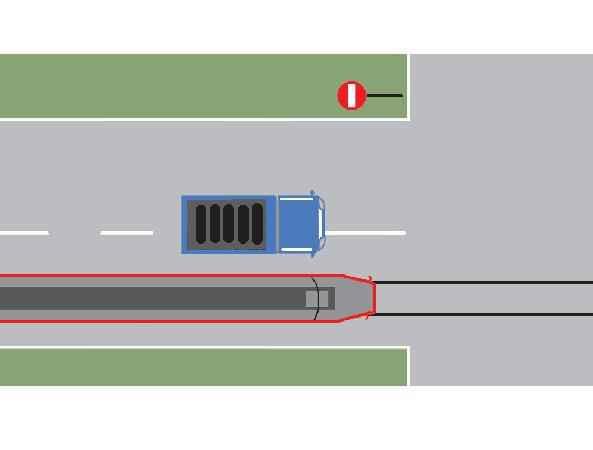 Depăşirea tramvaiului din imagine este regulamentară?