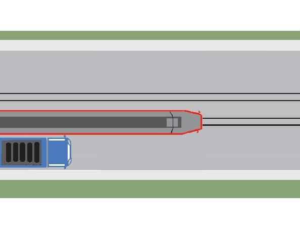 Conducătorul autocamionului din imaginea alăturată execută corect depăşirea tramvaiului care se apropie de staţie?