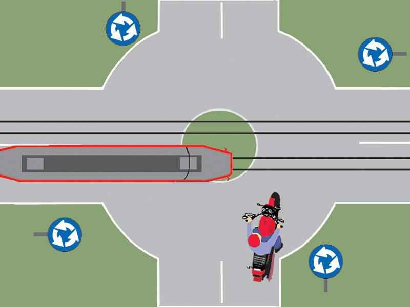 Care dintre autovehicule trece primul prin intersecţie şi de ce?