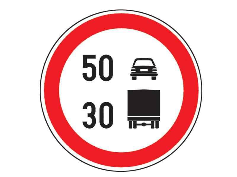 Vă aflaţi la volanul unui autocamion şi întâlniţi indicatorul alăturat. În această situaţie puteţi folosi: